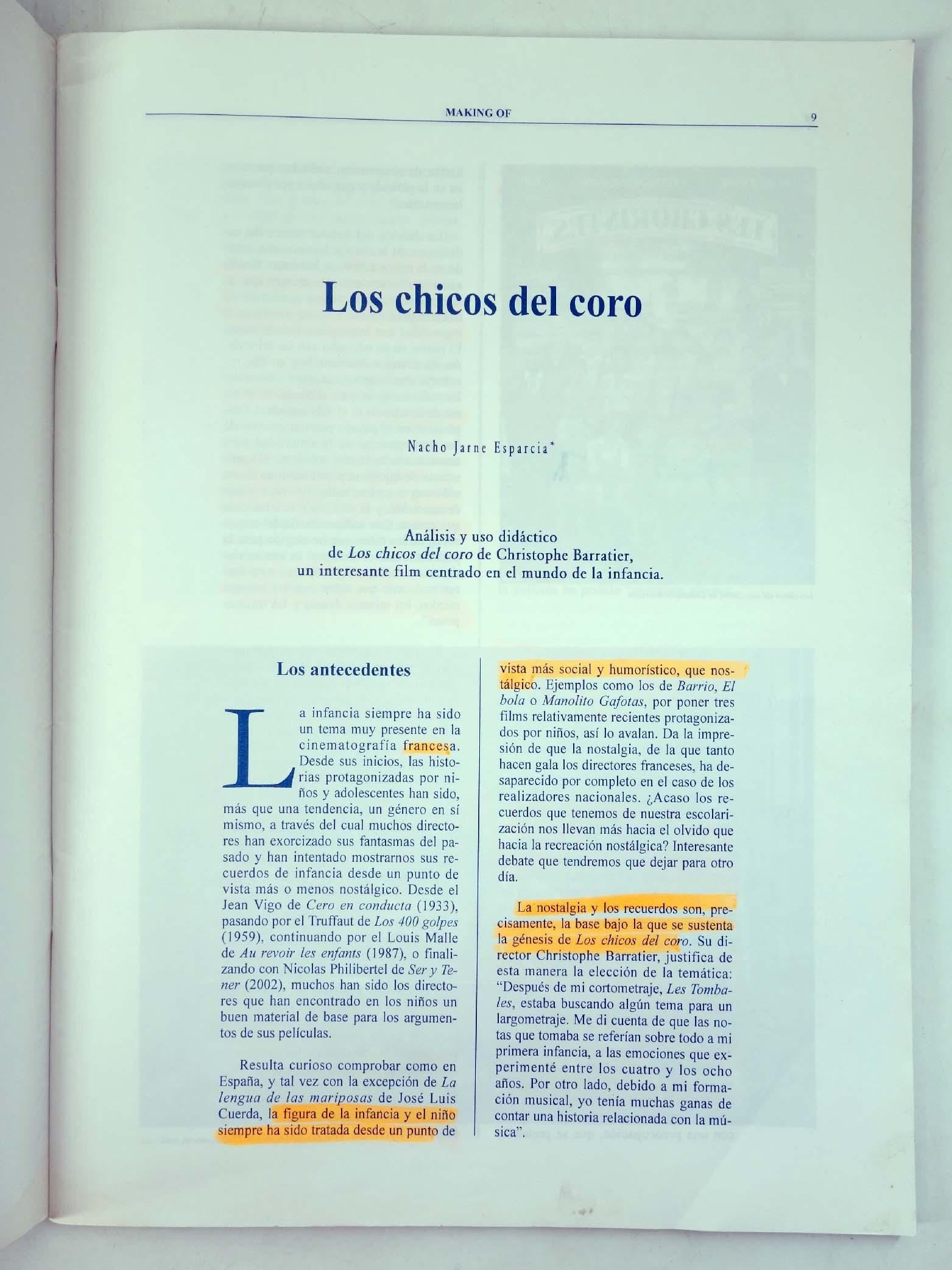 REVISTA MAKING OF, CUADERNOS DE CINE Y EDUCACIÓN 30