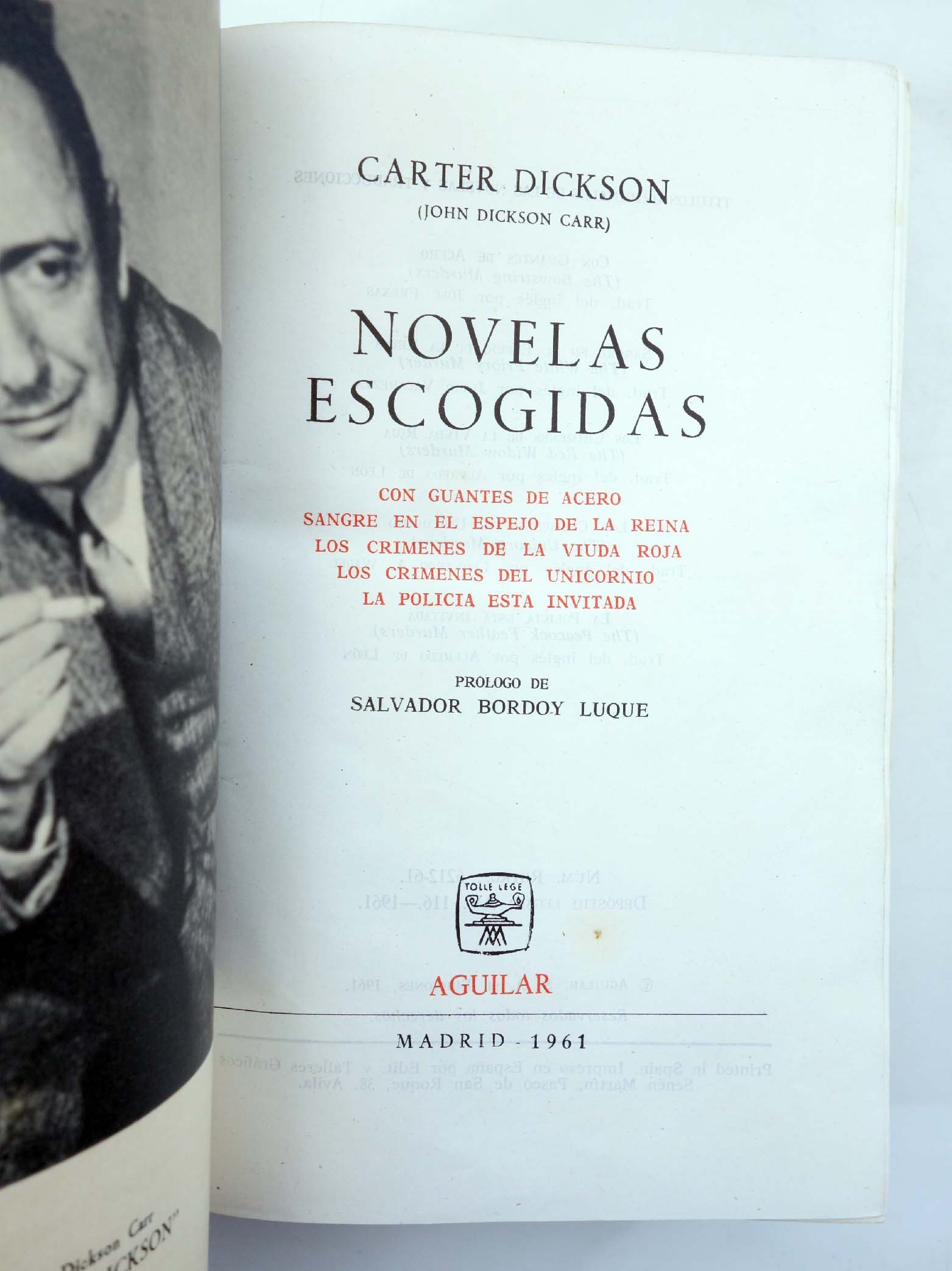 CARTER DICKSON. NOVELAS ESCOGIDAS