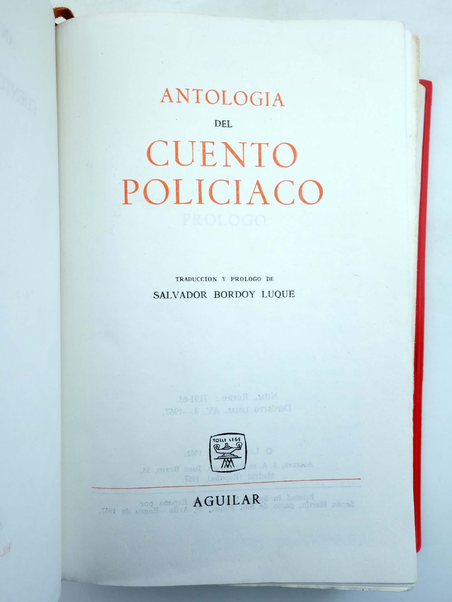 ANTOLOGÍA DEL CUENTO POLICIACO