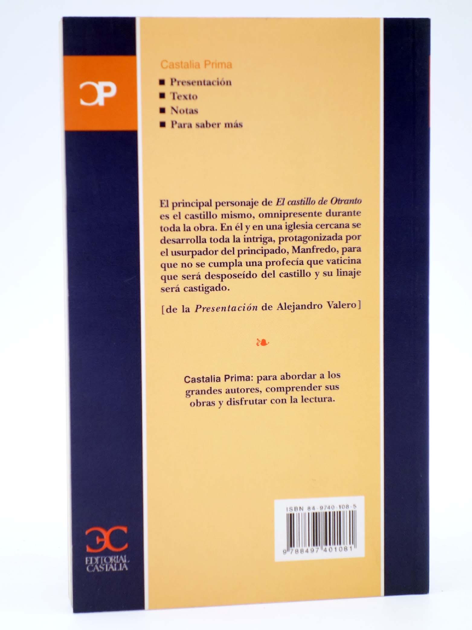 CASTALIA PRIMA 29. EL CASTILLO DE OTRANTO. OFRT